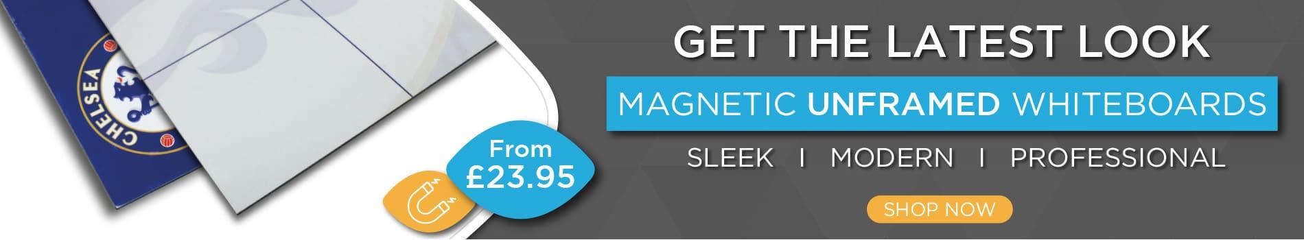 Magnetic Unframed Whiteboard